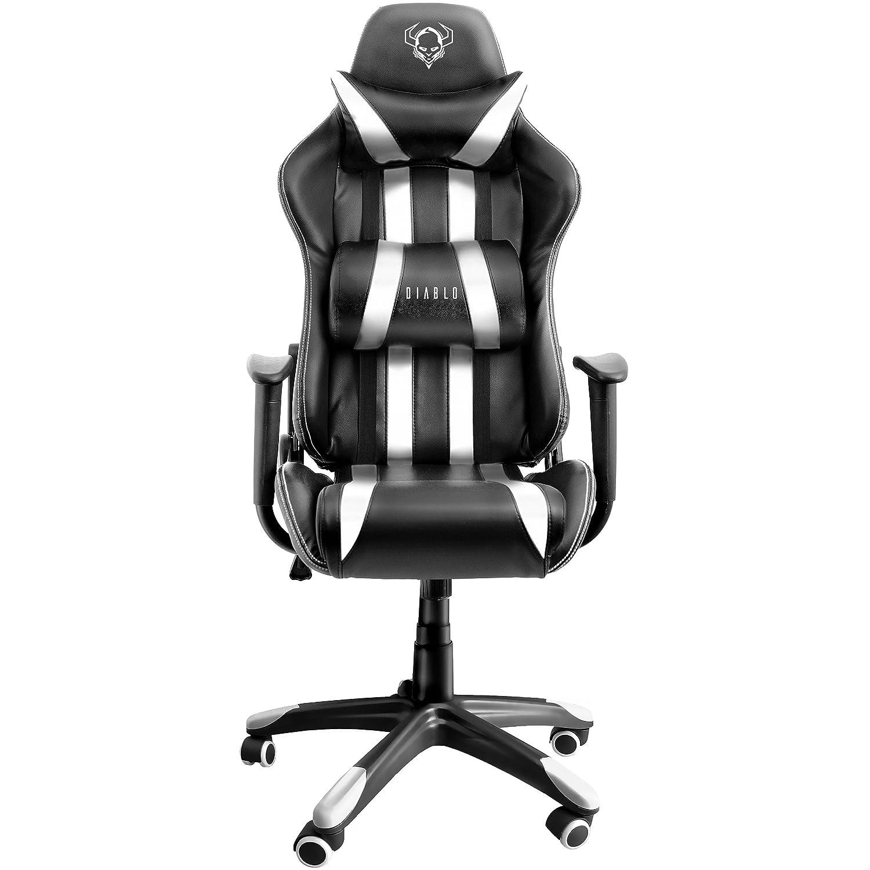 Diablo X e Sedia da Gaming Sedia Scrivania Sedi di gioco Racing Gaming Chair nero bianco Amazon Casa e cucina