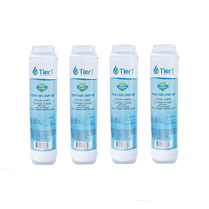 Tier1 Replacement for GE FQSVF Undersink Water Filter 4 Pack