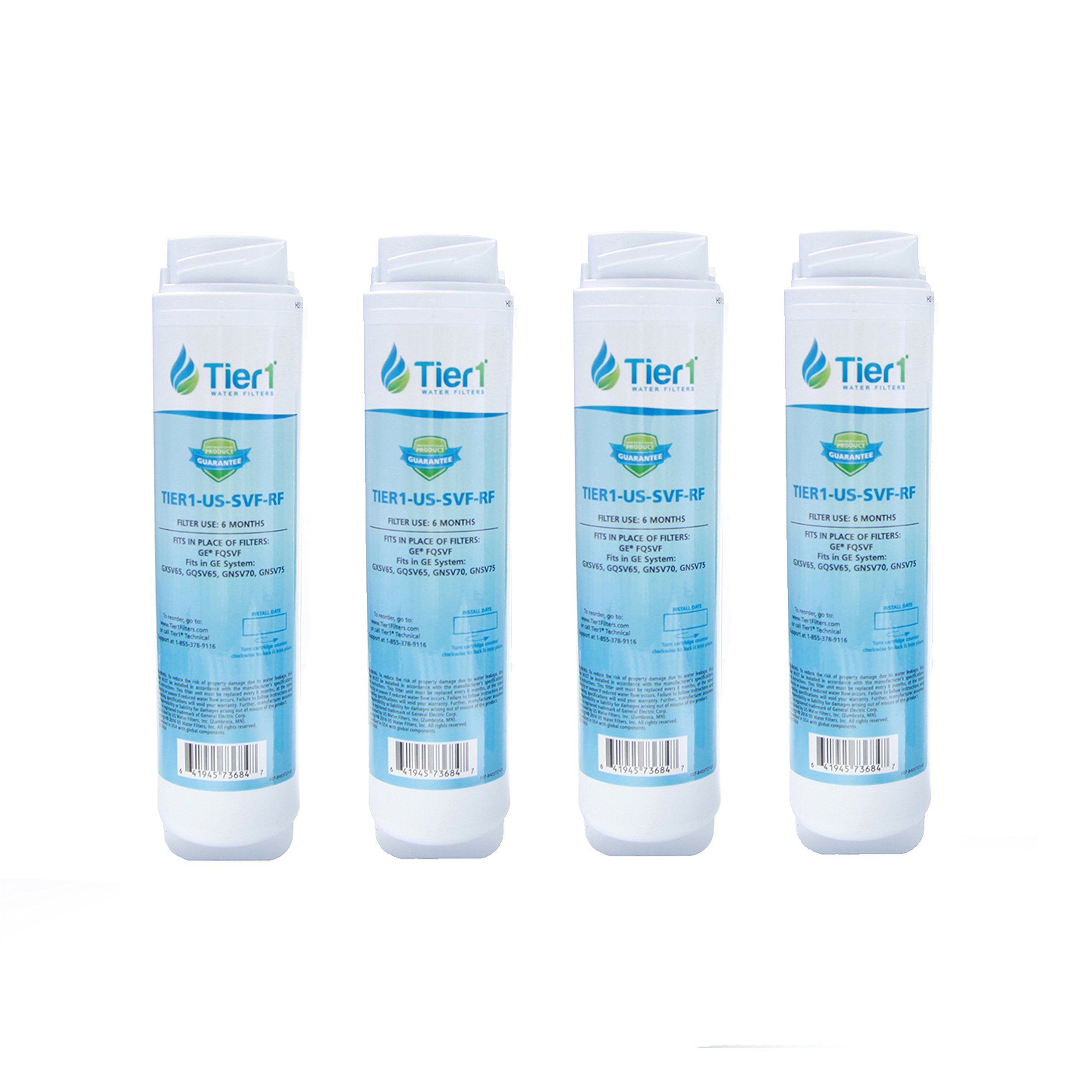 Tier1 GE FQSVF Comparable Undersink Replacement Water Filter Replacement 4 Pack