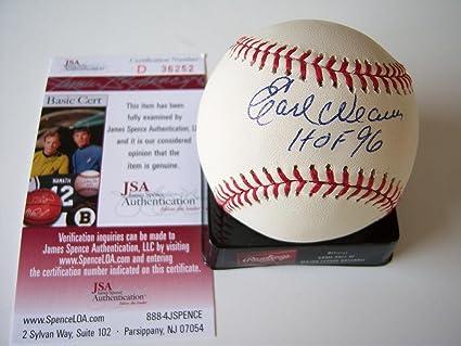 9a72ea3e431 Image Unavailable. Image not available for. Color  Earl Weaver Signed Ball  w HOF 96Jsa coa - JSA Certified - Autographed Baseballs