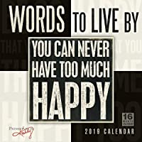 Words to Live By - Primitives by Kathy 2019 Wall Calendar