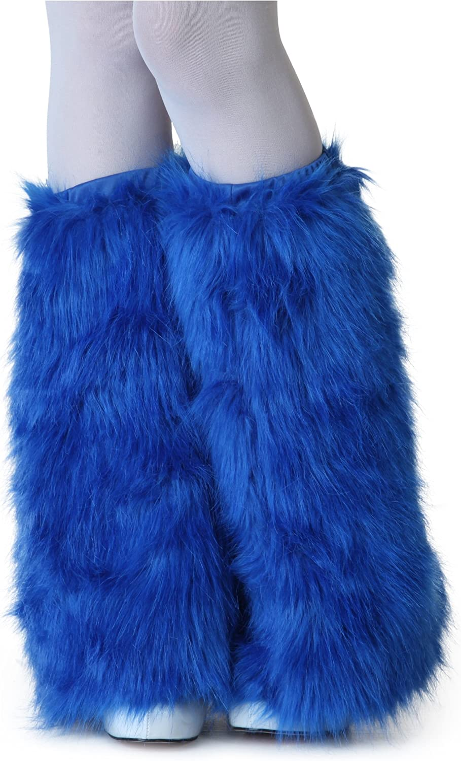 Adult Royal Blue Furry Boot Covers - ST: Clothing