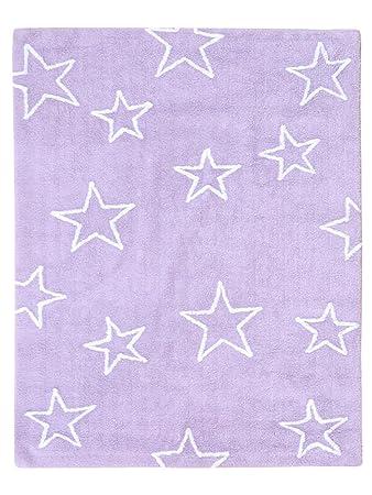 Kinderteppich sterne lila  Lorena Canals Teppiche: Kinderzimmer Kinderteppich Estrellas Lila ...