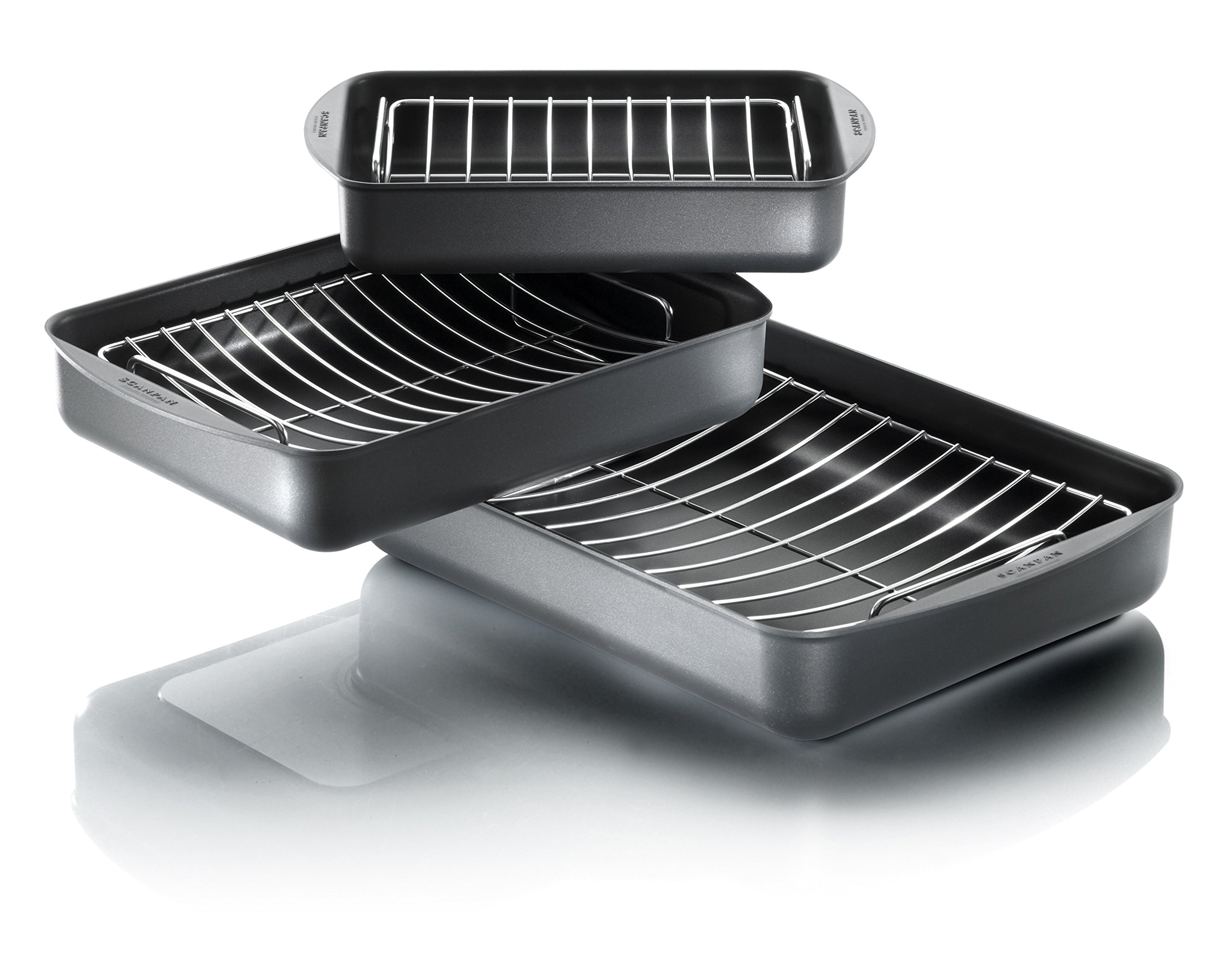 Scanpan Classic Roasting Pan, 3.25 QT, 13.5'' x 8.75'' by Scanpan (Image #4)