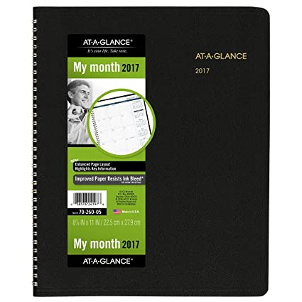 amazon com at a glance monthly planner appointment book 2017 15