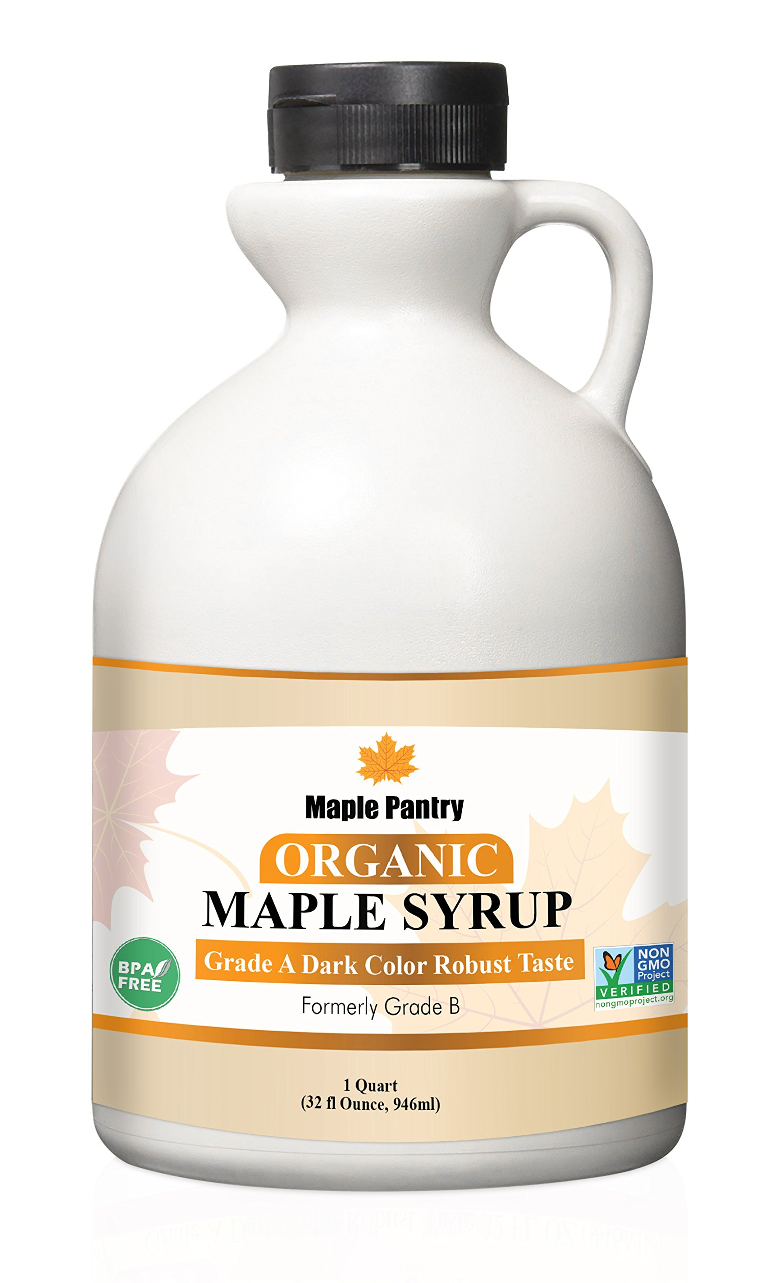 Maple Pantry Pure Organic maple syrup 32 oz Grade A Dark Robust Formerly Grade B