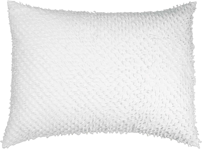Peri Home Dot Fringe 100% Cotton Pillow Sham, Standard, 20W x 26L, White