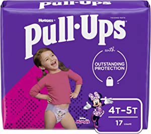 Pull-Ups Learning Designs Girls' Training Pants, 4T-5T, 17 Count