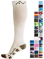 Calze a compressione (1coppia) per donne e uomini di a-swift–migliore per running, Athletic sport, crossfit, Flight viaggio–Tuta infermieri, maternità gravidanza, periostite–sotto al ginocchio
