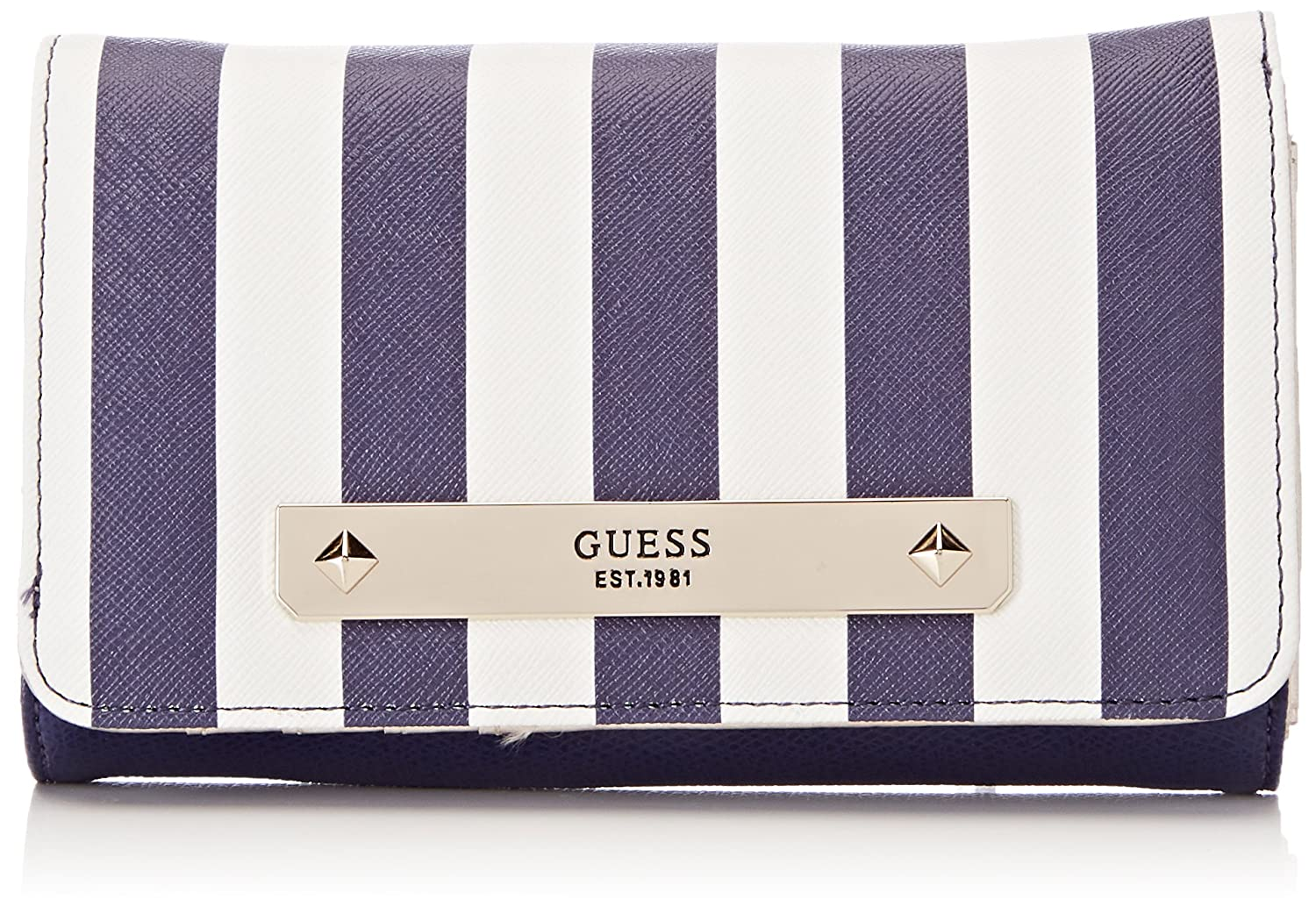 Guess - Slg Wallet, Carteras Mujer, Varios colores (Blue Stripe), 2x10x20 cm (W x H L)