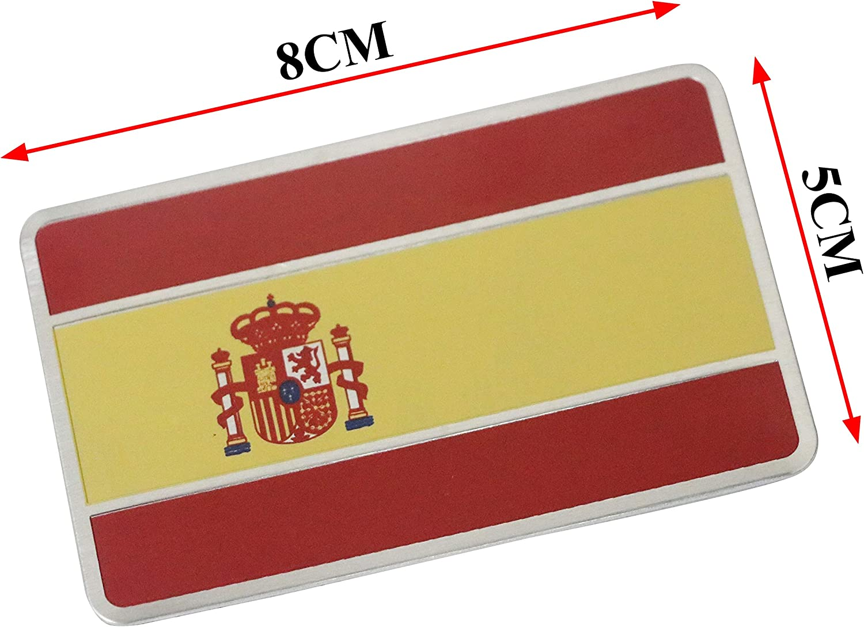 PT-Decors 2 unids Pegatinas Bandera españa Coche Emblema de Metal calcomanía gráfica Insignia: Amazon.es: Coche y moto