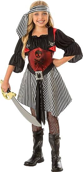 Rubies - Disfraz de Pirata Escarlata para niña, talla 5-7 años ...