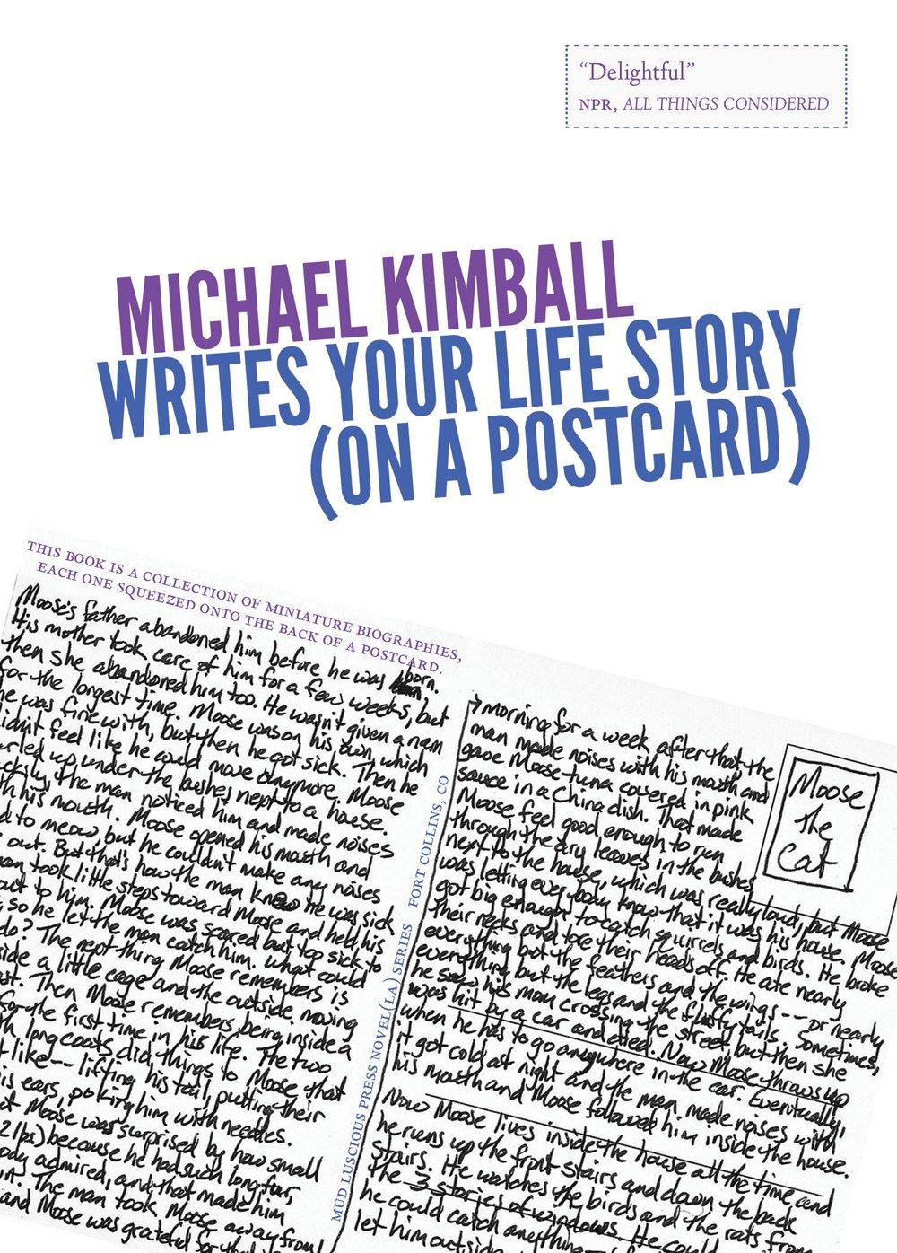 Read Online Michael Kimball Writes Your Life Story (on a postcard) (Novel (La)) pdf epub