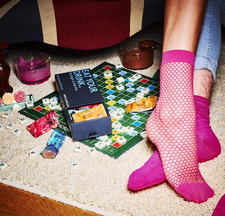 Smith & Sinclair Gominolas alcohólicas con sabor a cóctel, selección «The Night-In» de ron, vodka, Aperol y prosecco, caja de 8