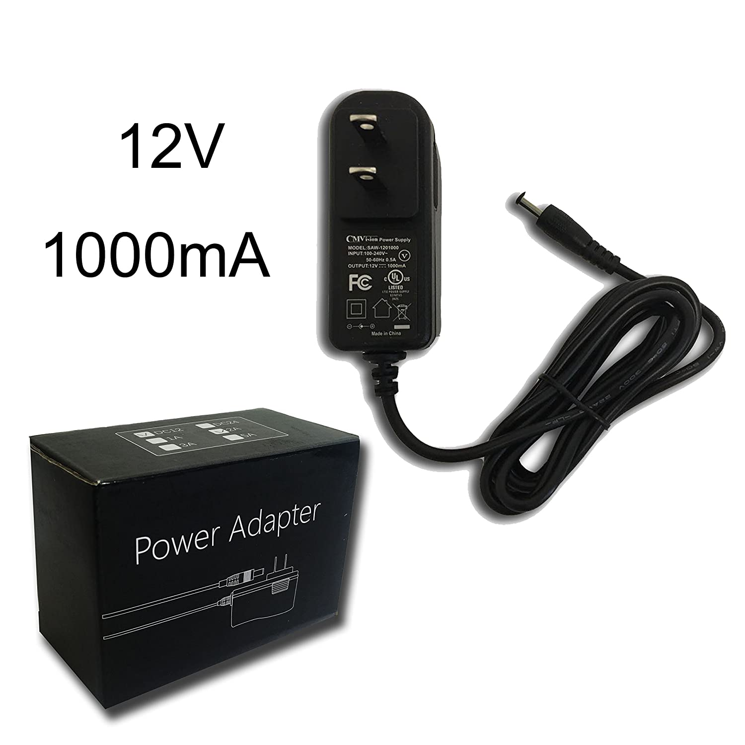 Cmvision Ul Listed Regulated Power Adapter 12vdc 1amp Supply With Schematic Diagram Share The For Camera Led Light Ir Illuminator Photo