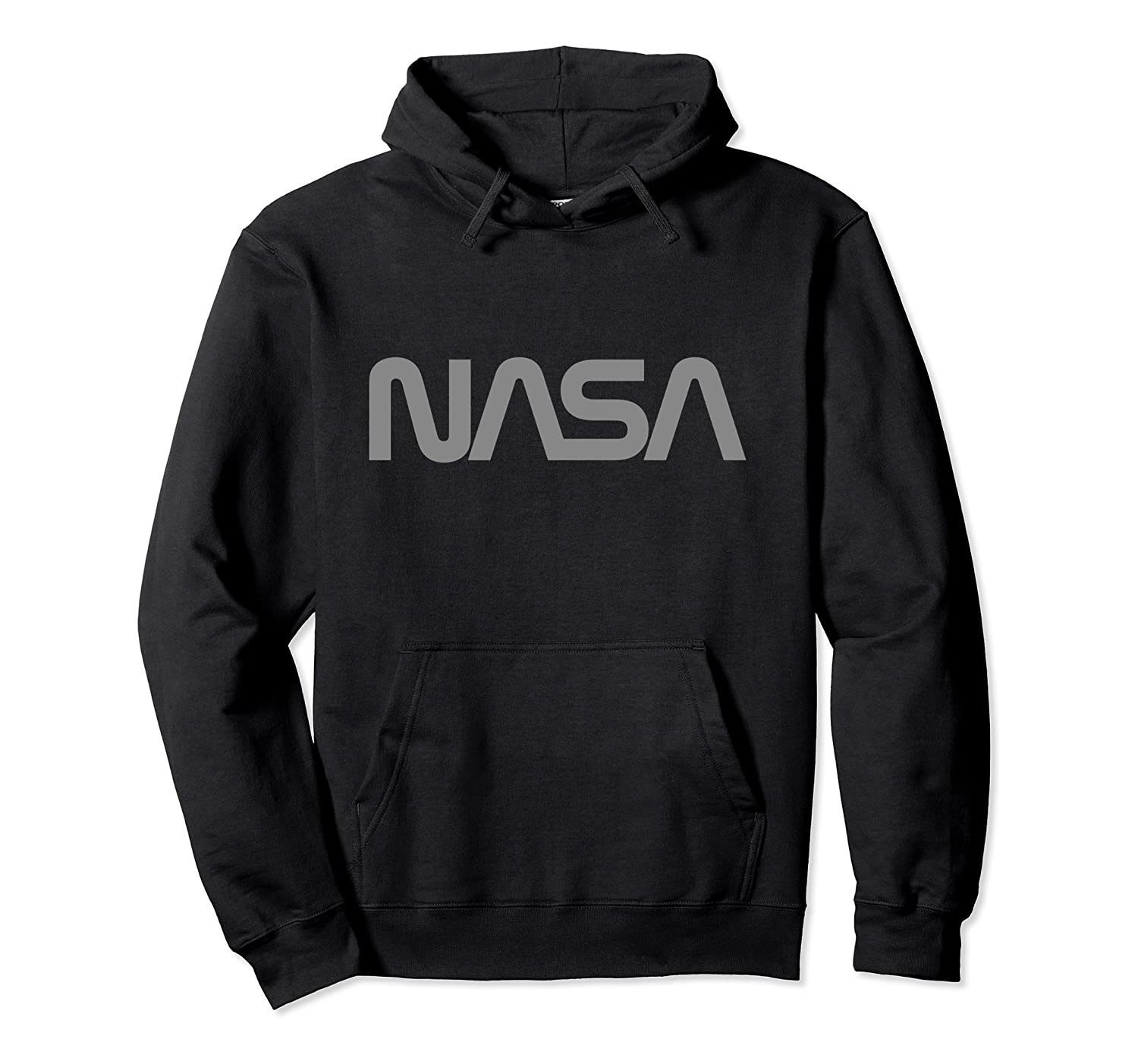 2596a7c4b NASA Worm Logo (Grey) - NASA Space Hoodie-ANZ ⋆ Anztshirt