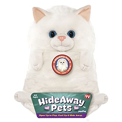 Jay at Play Hideaway Pet - Persian Kitten - Unfoldable Pillow Plush Animal - As Seen on TV: Toys & Games