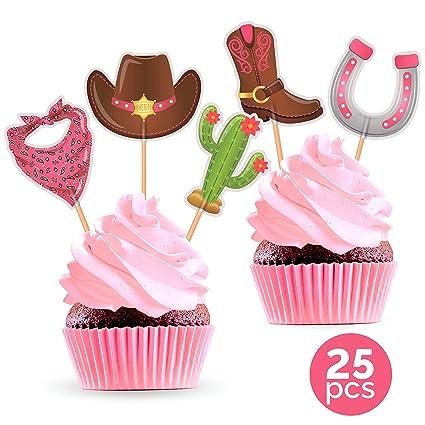 Decoración para cupcakes de Cowgirl Party – Suministros de ...
