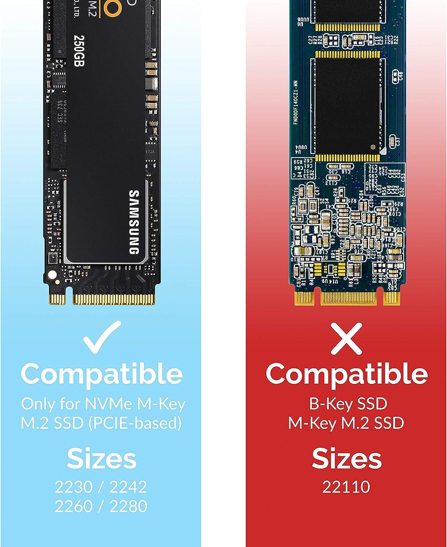 EC-TFNE Sabrent USB 3.2 Tool-Free Enclosure for NVMe PCIe M Key M.2 SSD Silver