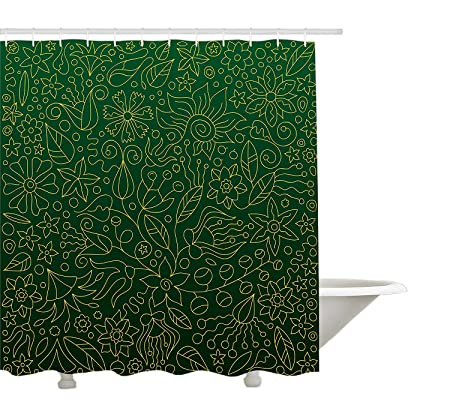 Yeuss Flower Shower Curtain By Chamomile Apple Motif Herbal Plant Cosmo Weed Alternative Medicine Retro