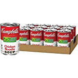 Campbell's Condensed 25% Less Sodium Chicken Noodle Soup, 10.75 oz. Can (Pack of 12)