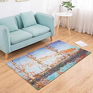 Amida Hallway Rug 3'x5' Rugs Artistic Contemporary Indoor Carpet Machine Washable Non Slip Les Peupliers