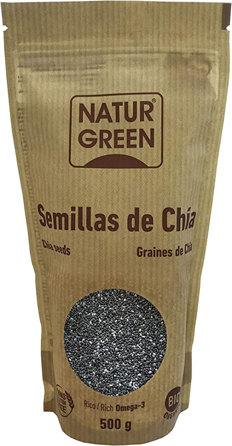 Semillas Chia NaturGreen, 500g: Amazon.es: Hogar