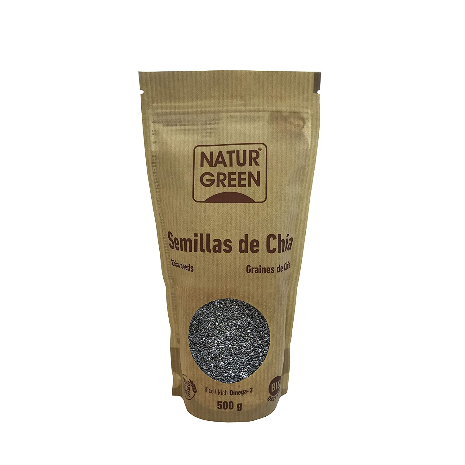 Semillas Chia NaturGreen, 500g: Amazon.es: Hogar