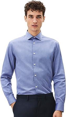 CELIOCELIO Camisa Regular con Cuello 100% algodón. Hombre: Amazon.es: Ropa y accesorios