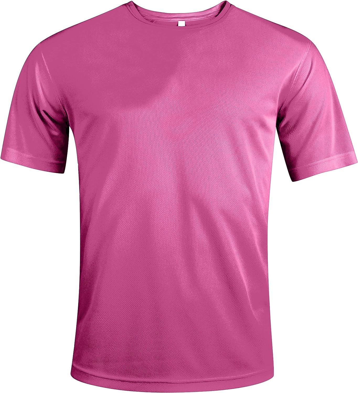 Camiseta deportiva de manga corta transpirable y de secado r/ápido