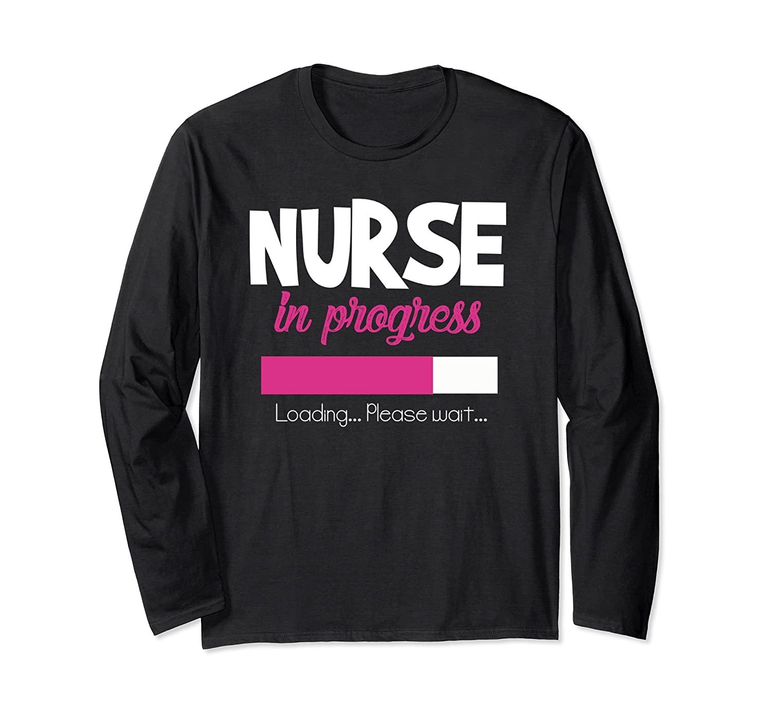 Nurse in Progress.Loading Cat Nurse is Sleeping Funny T-Shirt