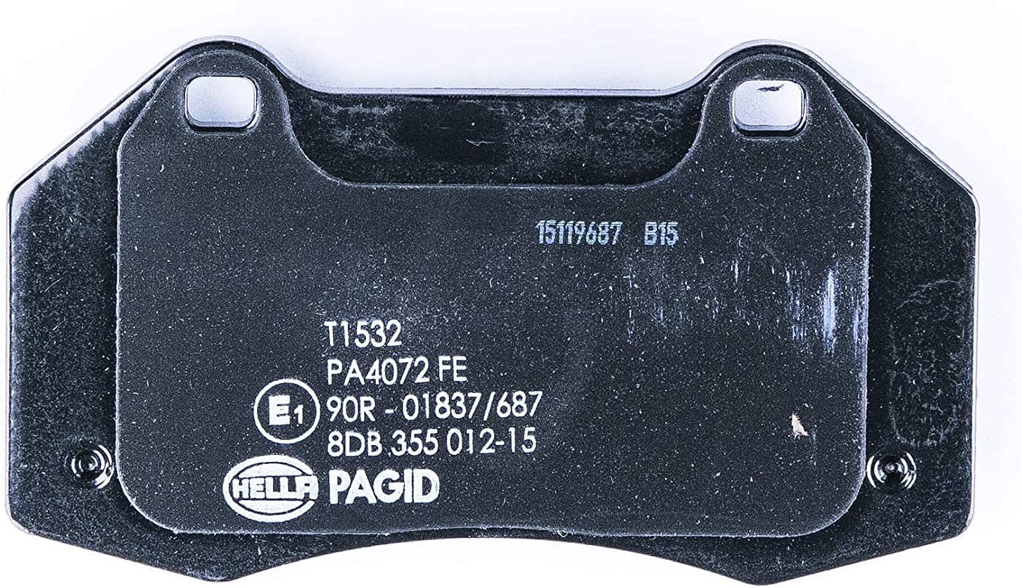 Essieu avant frein /à disque HELLA PAGID 8DB 355 012-151 Kit de plaquettes de frein