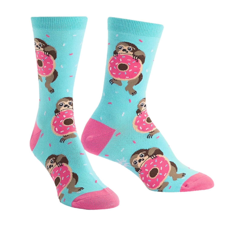 Sock It To Me Snacking Sloth Women's Crew Socks W0100