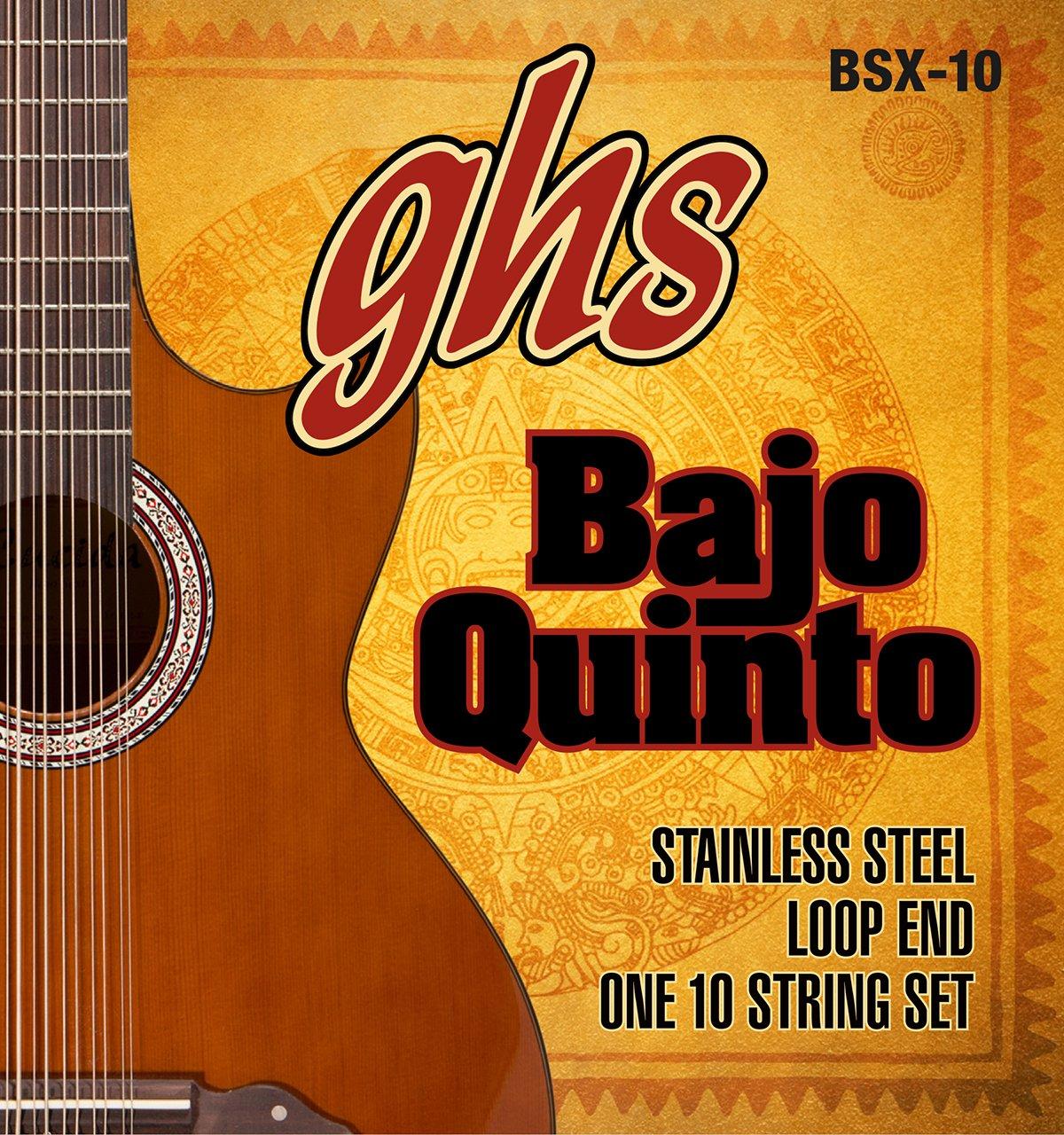 GHS Strings BSX-10 STAINLESS STEEL BAJO QUINTO Strings, Loop End