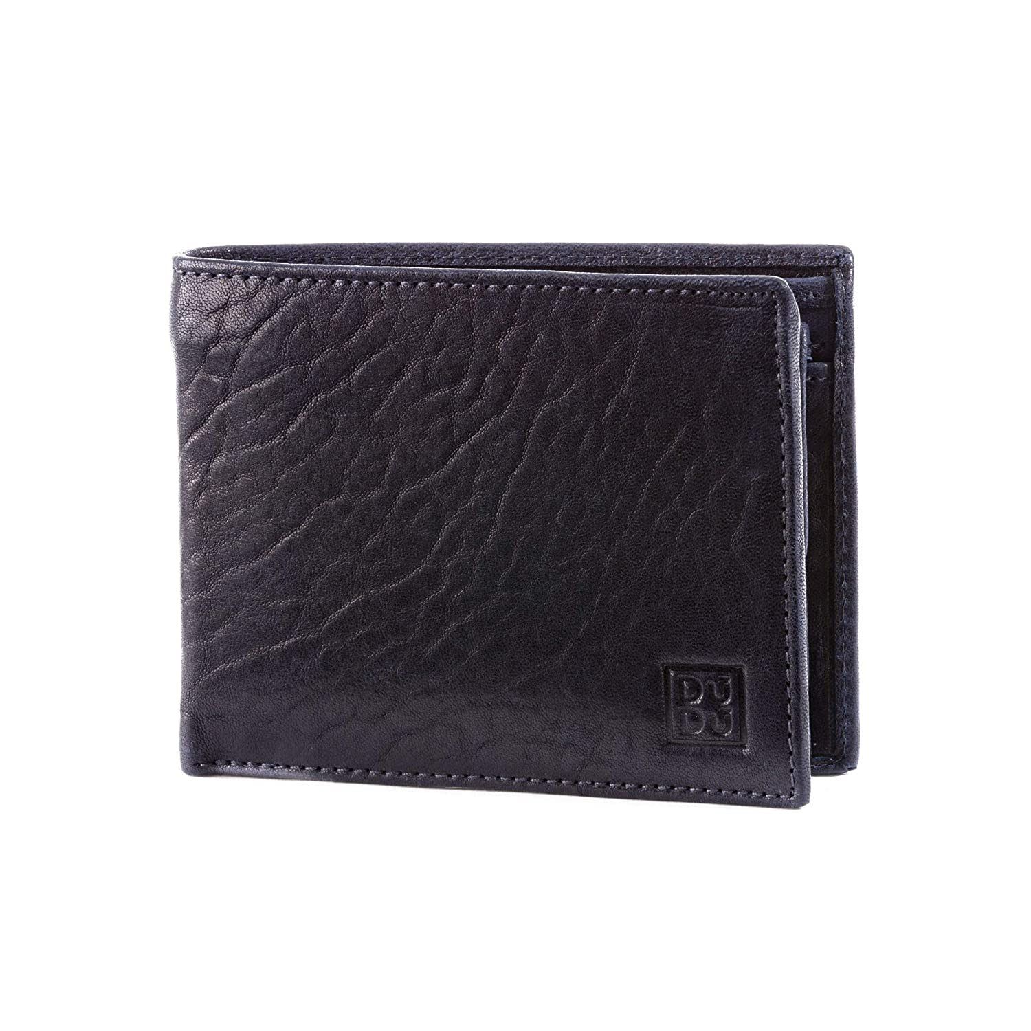 DUDU Mens Wallet with Coin Pocket in Real Soft Italian Leather Classic Style with Credit card and Bill money holders Texas ~