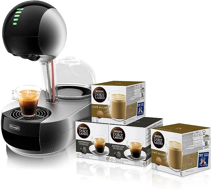 Pack DeLonghi Dolce Gusto Stelia EDG636.S - Cafetera de cápsulas, 15 bares de presión, color plateado + 4 packs de café Dolce Gusto: Amazon.es: Hogar