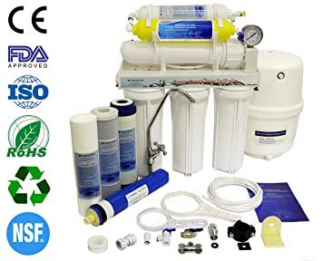 Finerfilters Domestic Home - Sistema de osmosis inversa de 6 etapas con eliminación de fluoruro (50 GPD), para el mejor agua potable: Amazon.es: Hogar