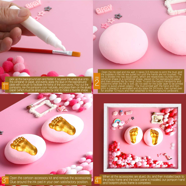 Baby Hand und Footprint Kit f/ür Neugeborene M/ädchen und Jungen personalisierte Baby Handprint und Fu/ßabdruck Set Andenken Geschenk