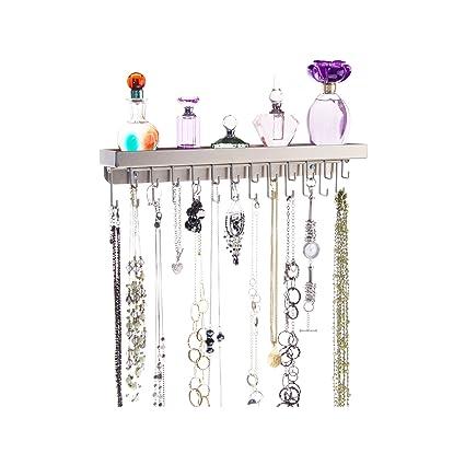 Amazoncom Necklace Holder Wall Mount Jewelry Organizer Hanging