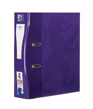 Archivadores Oxford A4, 70 mm, color morado paquete de 1 unidad: Amazon.es: Oficina y papelería