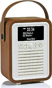 VQ Retro Mini - Radio Digital Dab & Dab+, Color marrón