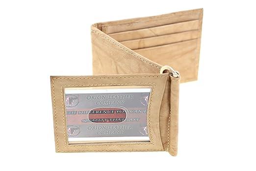 Paul U0026 Taylor Menu0027s Genuine Leather Z Shape Money Clip Wallet Exterior ...