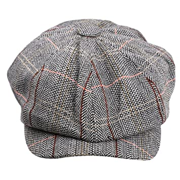 244c3d36dd3 Buy MagiDeal Newsboy Golf Flat Gatsby Tweed Sun Hat Country Beret Baker Cap  Grey Online at Low Prices in India - Amazon.in