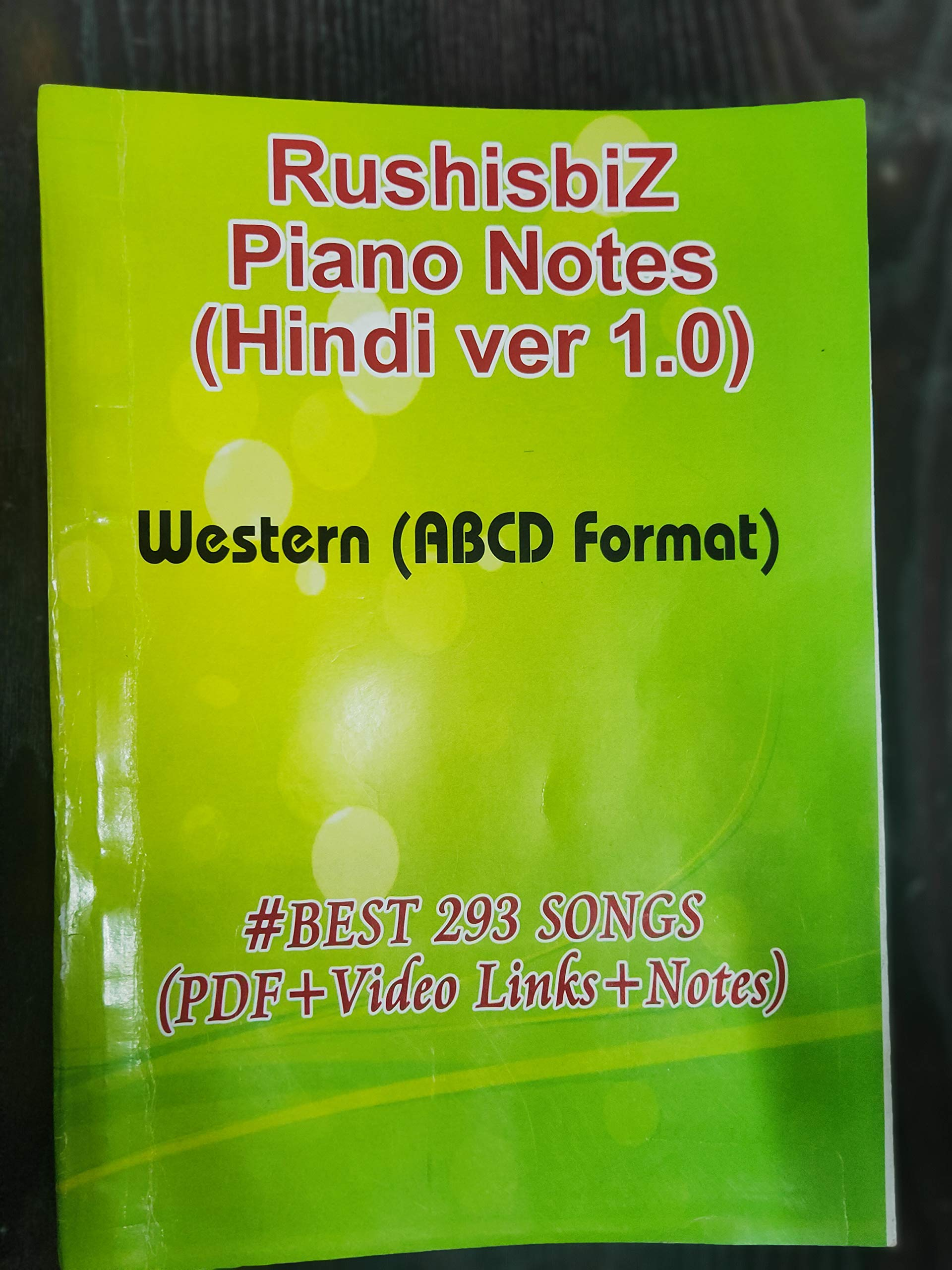 Buy Piano Book Best 293 Songs Rushisbiz Piano Notes Hindi Ver 1 0 Western Abcd Format Video Links Notes Scales Pdf Book Online At Low Prices In India Piano Book Best The song is great to be played for any marriages or weddings and so the sheet music is mostly the song is beautifully sung by sonu nigam and neeti mohan as they create a soothing romantic mood. rushisbiz piano notes hindi ver 1 0