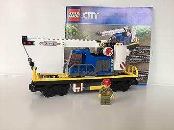 Lego City Eisenbahn Waggon Mit Kran Kranwagen Aus 60198 Amazon