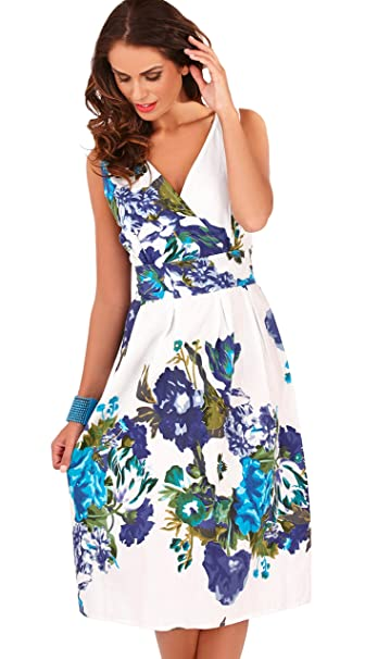 1ff496d912df Dannii Matthews Ladies 100% Cotton Floral Print Sleeveless Sundress Beach  Holiday