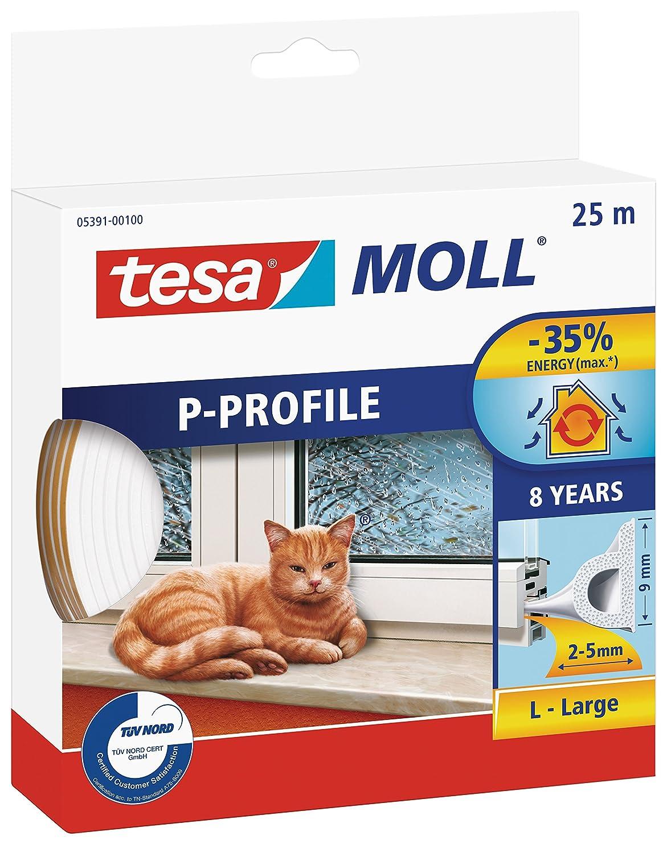 Emanhu trading M113765 - Tesamoll tubular 25 x 9 x 5.5 blanco 05391-00100-00