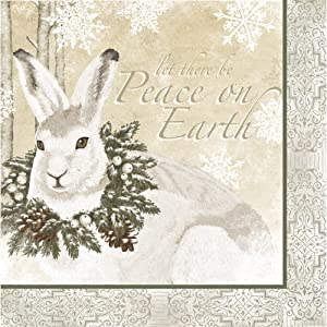 Cypress Home Peace on Earth Paper Luncheon Napkins, 20-pack