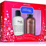 Philosophy Mint Chocolate Treat, Shampoo/Shower Gel/Bubble Bath, 2 Pack, Fresh Cream and Mint/Hot Cocoa, 8 0z. each