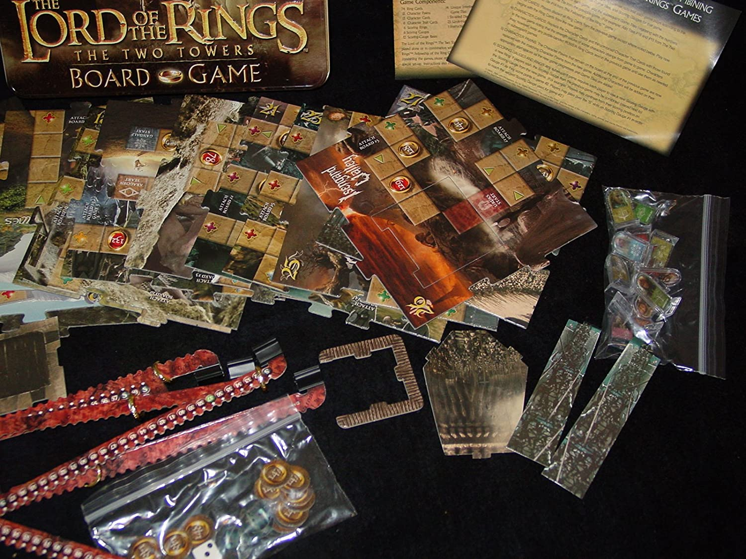 The Two Towers Board Game Rose Art Industries Inc. Lord of the Rings